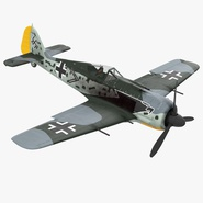 German WWII Fighter Aircraft FW 190 Rigged