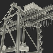 Port Container Crane Red with Container. Preview 46