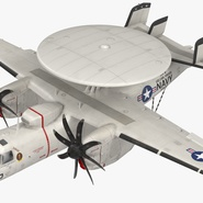 Grumman E-2 Hawkeye Tactical Early Warning Aircraft Rigged. Preview 14