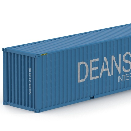 40 ft High Cube Container Blue 2. Render 21