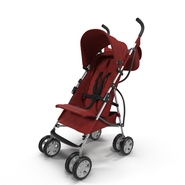Baby Stroller Red. Preview 3