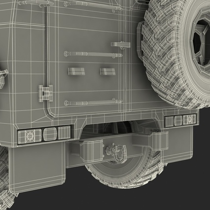 Russian Mobility Vehicle GAZ Tigr M Rigged. Render 90