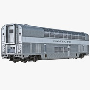 Railroad Double Deck Lounge Car