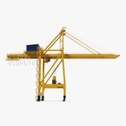 Quayside Container Crane with Container