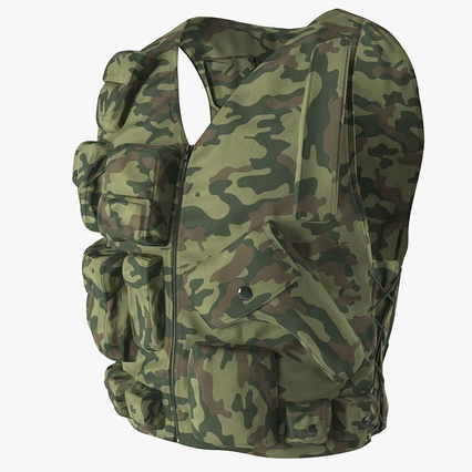 Military Camouflage Vest. Render 2