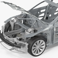 Tesla Model S Frame and Chassis. Preview 19