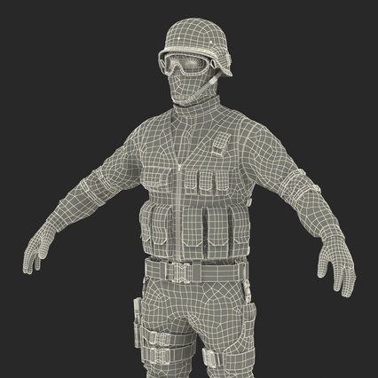 SWAT Man Mediterranean Rigged for Maya. Render 54