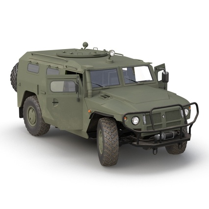 Russian Mobility Vehicle GAZ Tigr M Rigged. Render 8