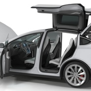 Tesla Model X Rigged. Preview 57