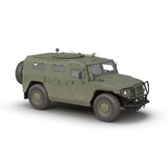 Russian Mobility Vehicle GAZ Tigr M Rigged. Preview 3