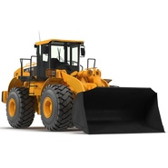 Generic Front End Loader Rigged. Preview 9