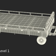 Airport Transport Trailer Low Bed Platform Rigged. Preview 24