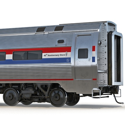 Railroad Amtrak Passenger Car 2. Render 23