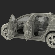 Generic Hybrid Car Rigged. Preview 102