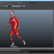 Soccer Player Rigged for Maya. Preview 37