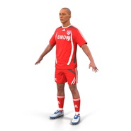 Soccer Player Rigged for Maya. Preview 12