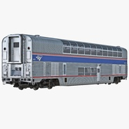 Railroad Double Deck Lounge Car Amtrak