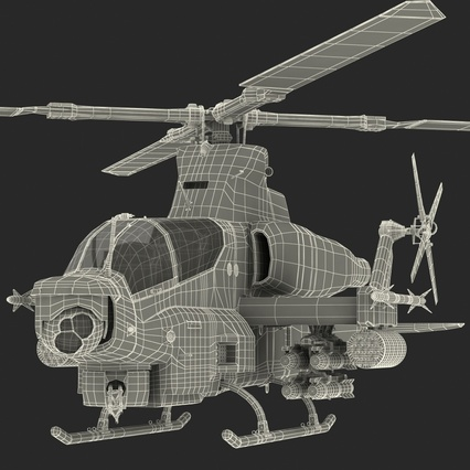 Attack Helicopter Bell AH 1Z Viper Rigged. Render 95