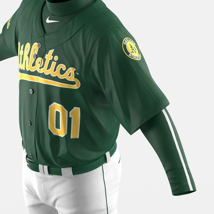 Baseball Player Outfit Athletics 3. Render 21