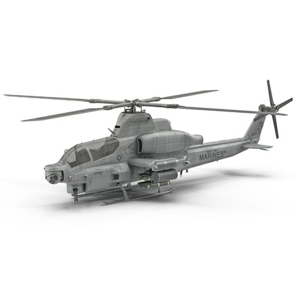 Attack Helicopter Bell AH 1Z Viper Rigged. Render 8