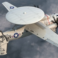 Grumman E-2 Hawkeye Tactical Early Warning Aircraft Rigged. Preview 8