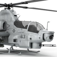 Attack Helicopter Bell AH 1Z Viper Rigged. Preview 45