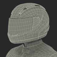 Motorcycle Rider Rigged for Maya. Preview 64