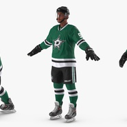 Hockey Player Stars Rigged for Maya. Preview 6
