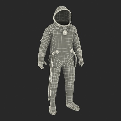 Russian Space Suit Sokol KV2 Rigged. Render 65