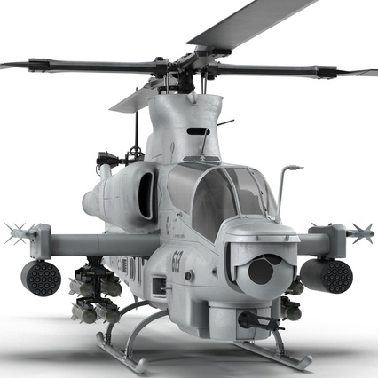 Attack Helicopter Bell AH 1Z Viper Rigged. Render 23