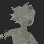 Robin Cartoon Character Rigged for Maya. Preview 42