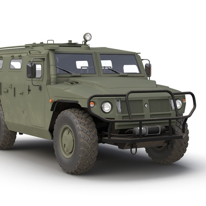 Russian Mobility Vehicle GAZ Tigr M Rigged. Render 27