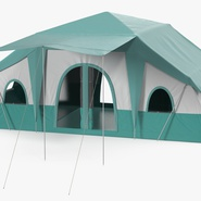 Deluxe Cabin Tent. Preview 2