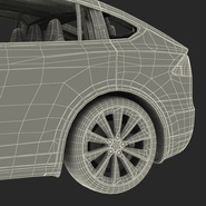 Tesla Model X Rigged. Preview 102
