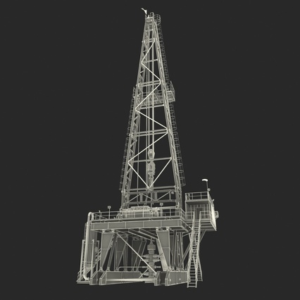 Fracking Gas Platform. Render 46