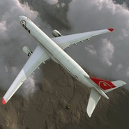 Jet Airliner Airbus A330-300 Northwest Airlines Rigged. Preview 10