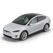 Tesla Model X Rigged. Preview 7