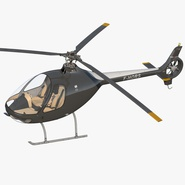 Helicopter Guimbal Cabri G2 Rigged