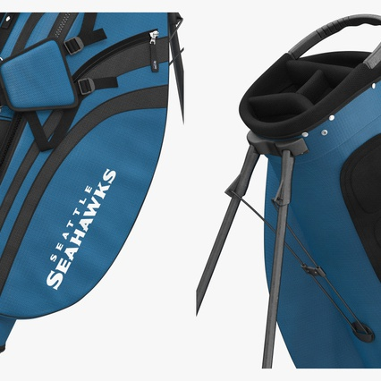 Golf Bag Seahawks with Clubs. Render 9