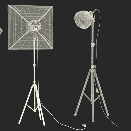 Photo Studio Lamps Collection. Render 74