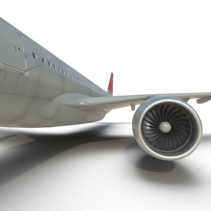 Jet Airliner Airbus A330-300 Northwest Airlines Rigged. Render 45