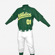 Baseball Player Outfit Athletics 3. Preview 15