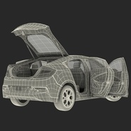 Generic Hybrid Car Rigged. Preview 80