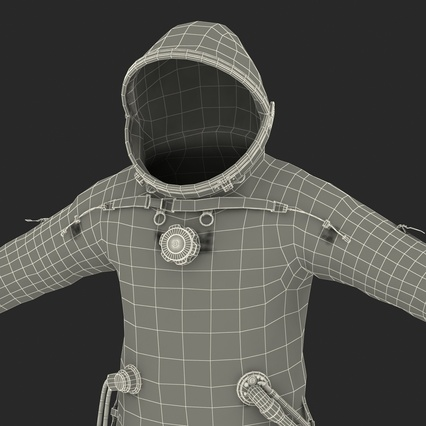 Russian Space Suit Sokol KV2 Rigged. Render 66