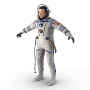 Russian Astronaut Wearing Space Suit Sokol KV2 Rigged for Maya. Preview 16
