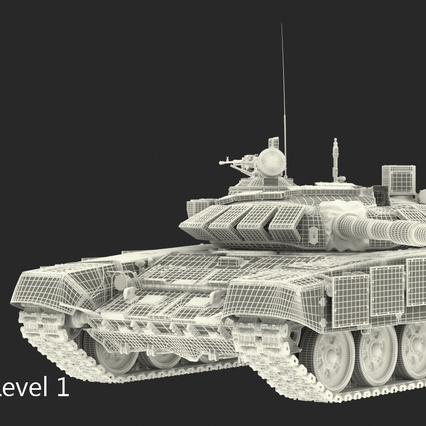 T72 Main Battle Tank Camo Rigged. Render 18