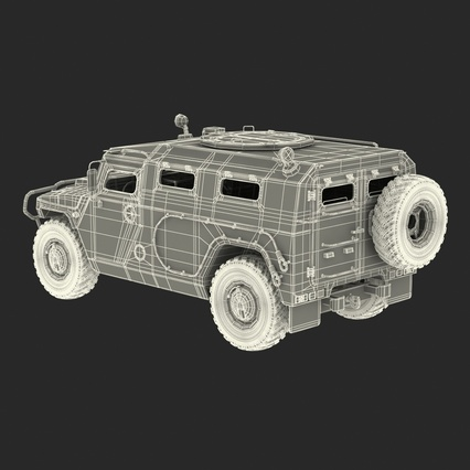 Russian Mobility Vehicle GAZ Tigr M Rigged. Render 74