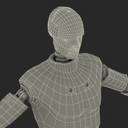 Male Crash Test Dummy Rigged for Cinema 4D. Preview 48
