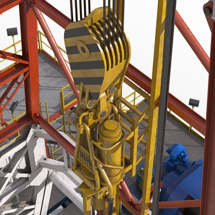 Fracking Gas Platform. Render 30