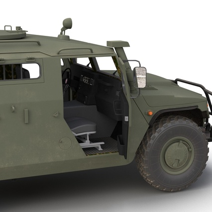 Russian Mobility Vehicle GAZ Tigr M Rigged. Render 49